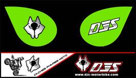 1 jeu de caches phares DJS pour Kawasaki zx6r microperforés qui laissent passer la lumière - référence : zx6-r-2007-2008-010