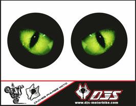 1 jeu de caches phares DJS pour Kawasaki ZXR750 1992 microperforés qui laissent passer la lumière - référence : ZXR750 1992-001-