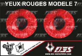 1 jeu de caches phares DJS pour  HONDA CBR 600RR 2013-2017 microperforés qui laissent passer la lumière - référence : yeux modèle 7-