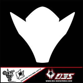 1 kit  cache phare DJS pour suzuki gsxr 600-750 k6 k7 microperforé qui laisse passer la lumière - référence : gsxr-600-750-2006-2007-fond blanc uni-