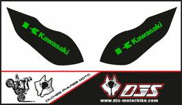 1 jeu de caches phares DJS pour Kawasaki zx6r microperforés qui laissent passer la lumière - référence : zx6-r-2009-2012-001-