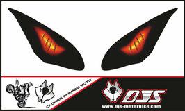 1 jeu de caches phares DJS pour KAWASAKI NINJA 650 2017-2019 microperforés qui laissent passer la lumière - référence : KAWASAKI NINJA 650 2017-2019-yeux modèle 6-