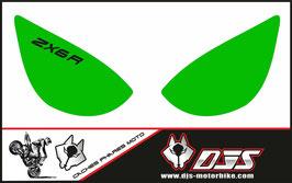 1 jeu de caches phares DJS pour Kawasaki zx6r microperforé qui laissent passer la lumière - référence : zx6r-2005-2006-010-