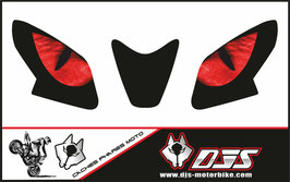 1 jeu de caches phares DJS pour Aprilia TUONO 2014-2020 microperforés qui laissent passer la lumière - référence : yeux modèle 3-