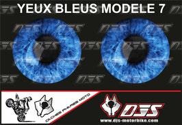 1 jeu de caches phares DJS pour  YAMAHA YZF R 125  microperforés qui laissent passer la lumière - référence : YAMAHA YZF R 125 2019-2021-yeux modèle 7-