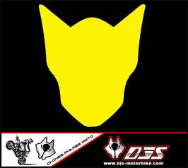 1 jeu de caches phares DJS pour Suzuki GSX-R 600-750 2011-2016 microperforés qui laissent passer la lumière - référence : gsx-r-600-750-2011-2016-couleur uni-