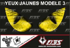 1 jeu de caches phares DJS pour SUZUKI-SVS-2003-2016 microperforés qui laissent passer la lumière - référence : yeux modèle 3-