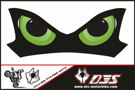 1 cache phare DJS pour Kawasaki Z900-2015-2020 microperforé qui laisse passer la lumière - référence : Z900-2015-2020-yeux modèle 9-