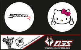 1 jeu de caches phares DJS pour Triumph speed triple microperforés qui laissent passer la lumière - référence : speed triple-2007-2010-009-