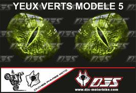 1 jeu de caches phares DJS pour KAWASAKI ZX-6R -2018-2021 microperforés qui laissent passer la lumière - référence : yeux modèle 5-