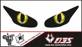 1 jeu de caches phares DJS pour  Triumph daytona 2009-2012 microperforés qui laissent passer la lumière - référence : yeux modèle 12-
