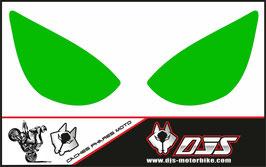 1 jeu de caches phares DJS pour Kawasaki zx6r microperforé qui laissent passer la lumière - référence : zx6r-2005-2006-couleur uni-