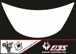 1 cache phare DJS pour Kawasaki zx6r microperforé qui laisse passer la lumière - référence : zx6r-1996-1999-blanc uni-