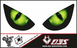 1 jeu de caches phares DJS pour KAWASAKI zx6r-2005-2006 microperforés qui laissent passer la lumière - référence : yeux modèle 1-
