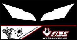 1 jeu de caches phares DJS pour Kawasaki ZX10R 2011-2015 microperforés qui laissent passer la lumière - référence : zx10r-2011-2015-fond blanc uni