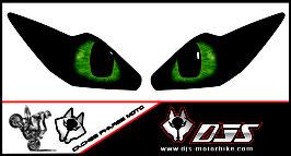 1 jeu de caches phares DJS pour Triumph daytona 2006-2008 microperforés qui laissent passer la lumière - référence : yeux modèle 15-