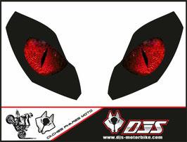 1 jeu de caches phares DJS pour  APRILIA TUONO-2005-2010 microperforés qui laissent passer la lumière - référence : yeux modèle 4-