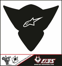 1 cache phare DJS pour Suzuki GSX-R 1000 2005-2006 microperforé qui laisse passer la lumière - référence : gsx-r-1000-2005-2006-007-