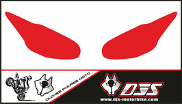 1 jeu de caches phares DJS pour Triumph daytona 2009-2012 microperforés qui laissent passer la lumière - référence : daytona-2009-2012-couleur unie-