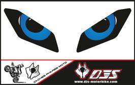 1 jeu de caches phares DJS pour Yamaha MT09 2017-2020 microperforés qui laissent passer la lumière - référence : Yamaha MT09 2017-2020-yeux modèle 9-