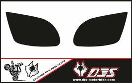 1 jeu de caches phares DJS pour Kawasaki zx12r microperforés qui laissent passer la lumière - référence : zx12r-2000-2001-NOIR UNIS-