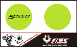 1 jeu de caches phares DJS pour Triumph speed triple microperforés qui laissent passer la lumière - référence : speed triple-2007-2010-010-