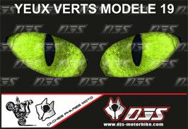 1 cache phare DJS pour KAWASAKI  ZX-10-R-2004-2005 microperforé qui laisse passer la lumière - référence : yeux modèle 19-