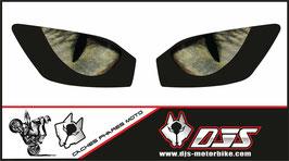 1 jeu de caches phares  DJS pour YAMAHA r6 1999-2002 microperforés qui laissent passer la lumière - référence : YAMAHA r6 1999-2002-yeux modèle 3-