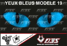 1 jeu de caches phares DJS pour YAMAHA YZF R 300 2015-2018 microperforés qui laissent passer la lumière - référence : YAMAHA YZF R 300 2015-2018-yeux modèle 19-