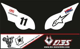 1 jeu de caches phares DJS pour HONDA CBR 1000 RR  microperforés qui laissent passer la lumière - référence : CBR 1000-2008-2011-012-