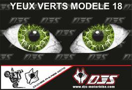 1 jeu de caches phares DJS pour Kawasaki zx10r 2011-2015 microperforés qui laissent passer la lumière - référence : zx10r 2011-2015-yeux modèle 18-