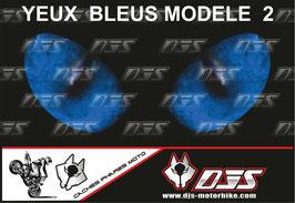 1 cache phare DJS pour  SUZUKI GSX-R 1000 2007-2008 microperforé qui laisse passer la lumière - référence :yeux modèle 2-