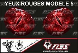 1 jeu de caches phares DJS pour HONDA CBR 600RR 2013-2017  microperforés qui laissent passer la lumière - référence : yeux modèle 5-