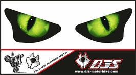 1 jeu de caches phares DJS pour KAWASAKI  ZX6R-2003-2004 microperforés qui laissent passer la lumière - référence : yeux modèle 1-