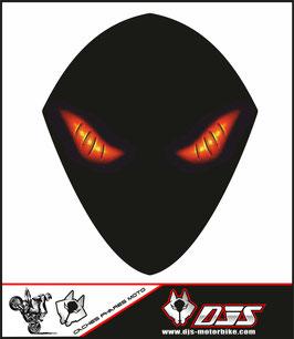 1 cache phare DJS pour SUZUKI GSX-R 1000 2007-2008 microperforé qui laisse passer la lumière - référence : yeux modèle 6-
