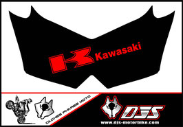 1 jeu de cache phare DJS pour Kawasaki Z750 microperforés qui laisse passer la lumière - référence : Z750-2007-2014-019-