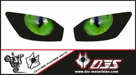 1 jeu de caches phares  DJS pour YAMAHA r6 1999-2002 microperforés qui laissent passer la lumière - référence : YAMAHA r6 1999-2002-yeux modèle 2-