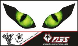 1 jeu de caches phares DJS pour KAWASAKI  ZX-6R-2009-2012 microperforés qui laissent passer la lumière - référence : yeux modèle 1-