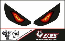 1 jeu de caches phares DJS pour Kawasaki Z1000 2015-2021 microperforés qui laissent passer la lumière - référence : z1000-2015-2021-yeux modèle 6-