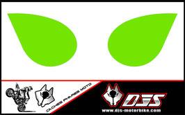 1 jeu de caches phares DJS pour Kawasaki zx6r microperforés qui laissent passer la lumière - référence : zx6-r-2007-2008-couleur fond uni-