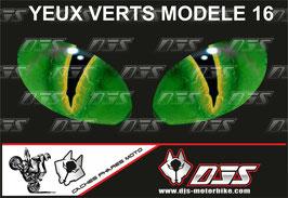 1 jeu de caches phares DJS pour KAWASAKI  ZX-6R-2009-2012 microperforés qui laissent passer la lumière - référence : yeux modèle 16-