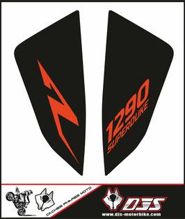 1 jeu de caches phares DJS pour KTM SUPERDUKE R ET RR 1290 2020-2021 microperforés qui laissent passer la lumière - référence : superduke 1290 R 2020-2021-004-