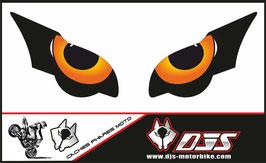 1 jeu de caches phares DJS pour HONDA CBR 1000 RR  microperforés qui laissent passer la lumière - référence : CBR 1000-2008-2011-yeux ORANGE 3-
