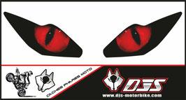 1 jeu de caches phares DJS pour Triumph daytona 2006-2008 microperforés qui laissent passer la lumière - référence : yeux modèle 1-