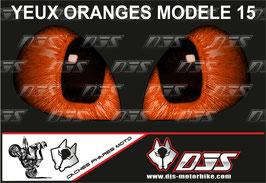 1 jeu de caches phares DJS pour KTM DUKE 890 2020-2021 microperforés qui laissent passer la lumière - référence : yeux modèle 15-