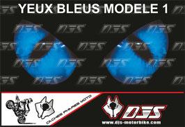 1 cache phare DJS pour SUZUKI  GSX-R 1000 2003-2004 microperforé qui laisse passer la lumière - référence : yeux modèle 1-