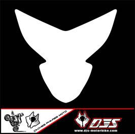 1 kit  cache phare DJS pour suzuki gsxr 600-750 k4 k5 microperforé qui laisse passer la lumière - référence : gsxr-600-750-2004-2005-fond blanc uni-