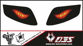 1 jeu de caches phares DJS pour SUZUKI-SVS-2003-2016 microperforés qui laissent passer la lumière - référence : yeux modèle 6-