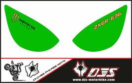 1 jeu de caches phares DJS pour Kawasaki zx6r microperforé qui laissent passer la lumière - référence : zx6r-2005-2006-017-