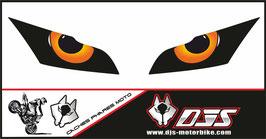 1 jeu de caches phares DJS pour Kawasaki zx10r 2011-2015 microperforés qui laissent passer la lumière - référence : zx10r 2011-2015-yeux modèle 9-